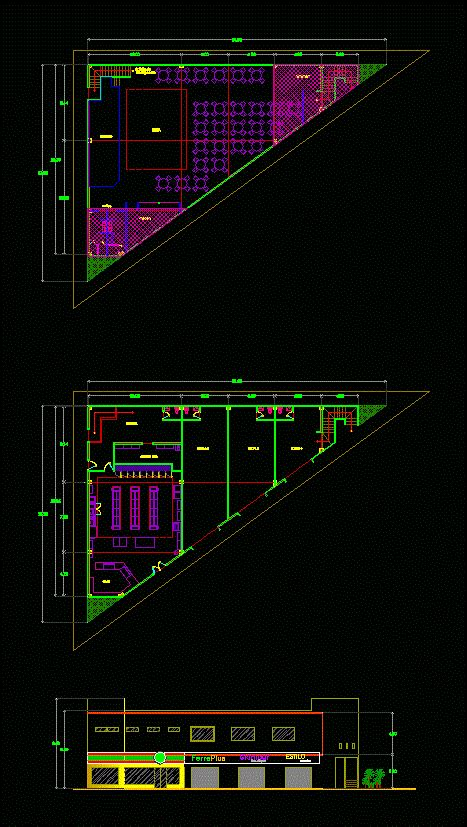 oxxo type commercial dwg plan  autocad designs cad