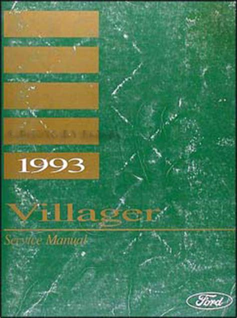 free auto repair manuals 1993 mercury villager electronic toll collection 1993 mercury villager repair shop manual original