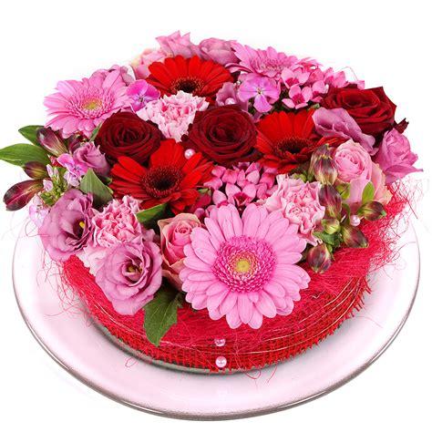 Roze rode bloementaart bestellen Bezorgen