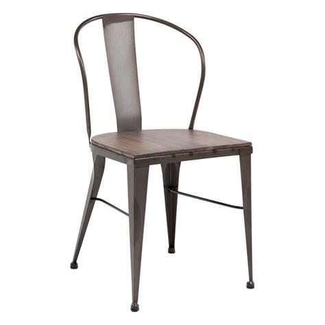chaises métal chaise industrielle vintage en métal 631 4 pieds