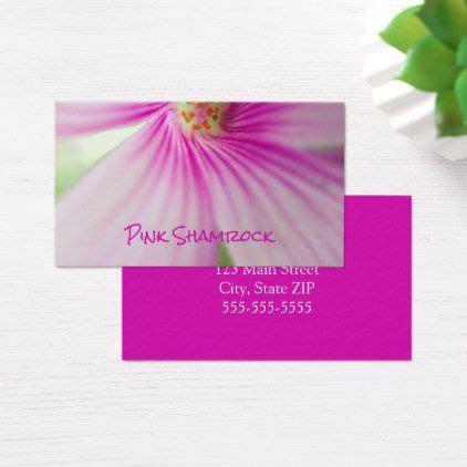 pink shamrock flower photo florist business card
