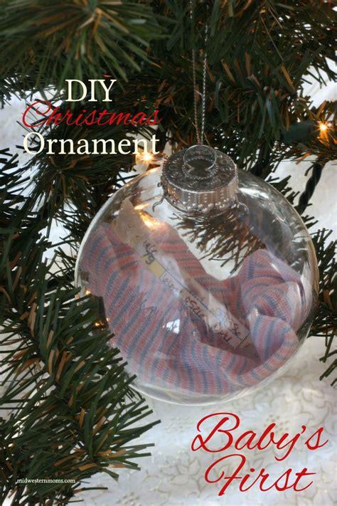 diy babys  christmas ornament