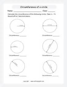 Radius Diameter and Circumference Worksheets