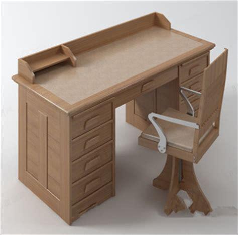 modele bureau mod le de bureau en bois massif 3d model free 3d