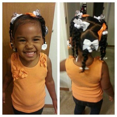 orange and white mixed baby hairstyles miyah hair