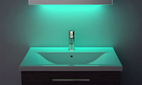 Led Ambient Bathroom Mirror Cabinet With Sensor & Shaver