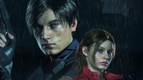 Leon And Claire In Resident Evil 2 Hd Games 4k