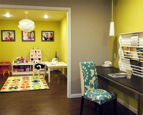 Happy Bold Kids Basement Playroom-contemporary-kids