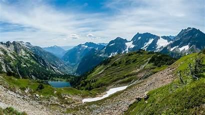 Mountain Snow Lake Magic Melting Alpine Summer