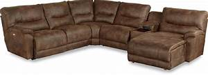 La z boy dawson casual six piece power reclining sectional for Lazy boy dawson sectional sofa