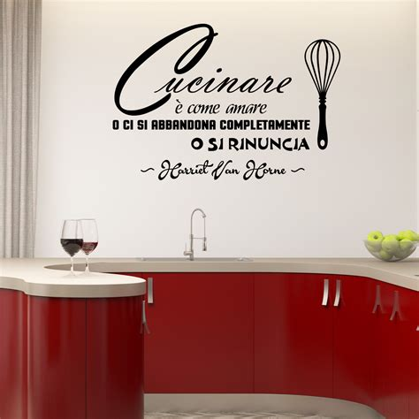 stickers citation cuisine sticker citation cucinare è come amare stickers