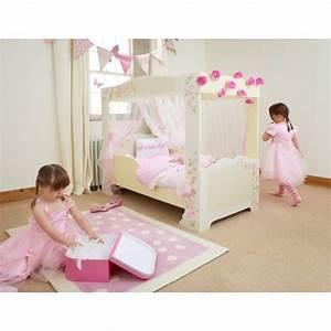 Lit Princesse Fille : lit baldaquin rose fille ~ Teatrodelosmanantiales.com Idées de Décoration
