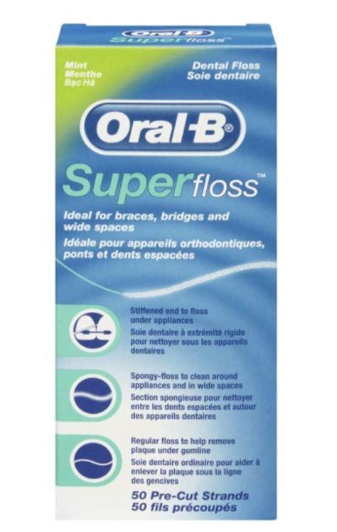 Amazon.com : Oral-B Super Floss Mint Dental Floss for