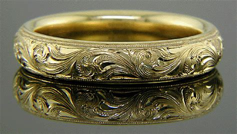 hand engraved wedding bands bijoux extraordinaire