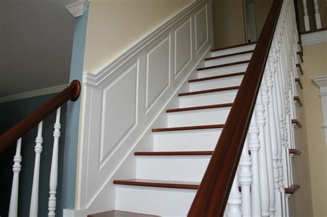 Custom Raised Panel Staircase Wainscoting Pictures