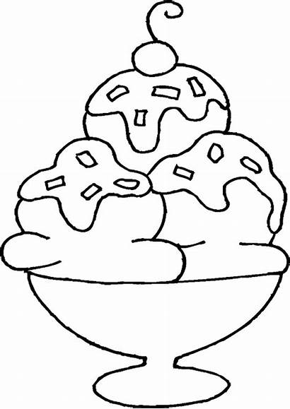 Mewarnai Ice Cream Gambar Coloring Drawing Sundae