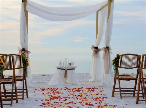 Beautiful Photos Of Simple Beach Wedding Decorations