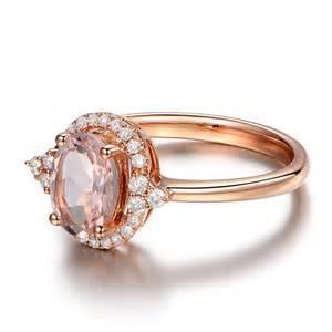morganite engagement rings gold vintage 2 carat morganite and engagement ring in gold jewelocean