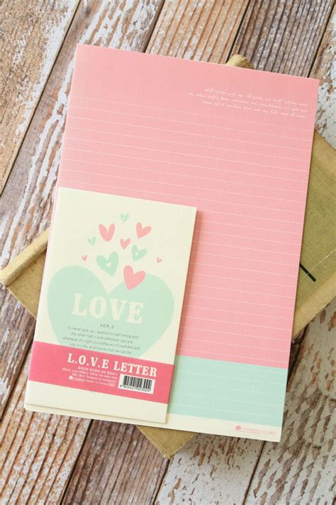 love ver  letter set kawaii colorful korean cartoon love