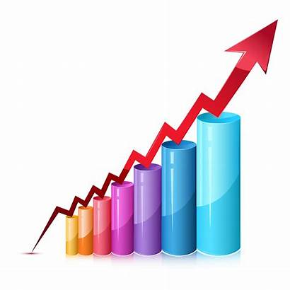 Graph Bar Vector Market Chart Illustration 3d