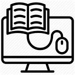 Icon Library Study Encyclopedia Learning Icons Elearning