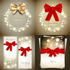 christmas invitations with red bow vector vector graphics blog