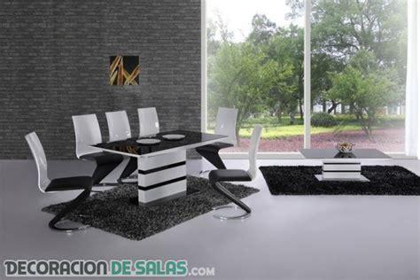 comedores modernos en blanco  negro decoracion de salas