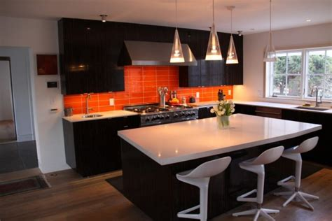 kitchen design orange modern orange kitchen designs 1294