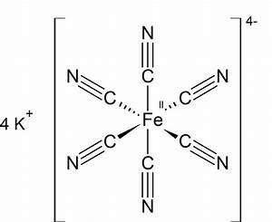 Explain Chemical Bonding In Potassium Ferrocyanide And