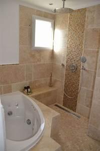 Salle De Bain Douche Baignoire : photos de vos salles de bain une fois termin es 1343 messages page 83 ~ Melissatoandfro.com Idées de Décoration