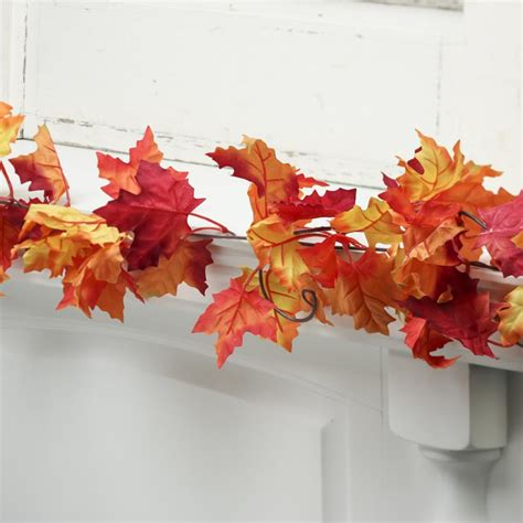 autumn artificial maple leaf garland fall florals
