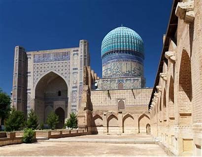 Bibi Mosque Khanym Samarkand Uzbekistan Khanum Registan