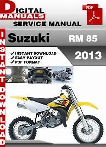 Suzuki Rm 85 2013 Factory Service Repair Manual Pdf