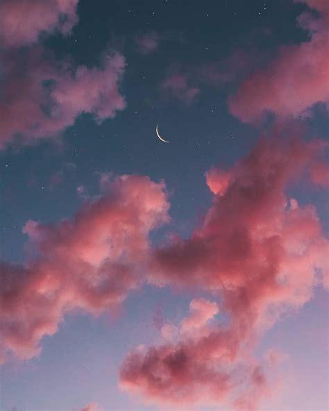 sky pastel aesthetic moon wallpaper