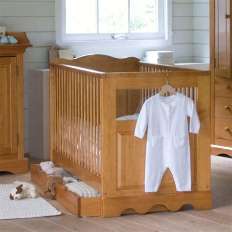 chambre bebe la redoute le lit avec tiroir en pin massif pour bébé la redoute
