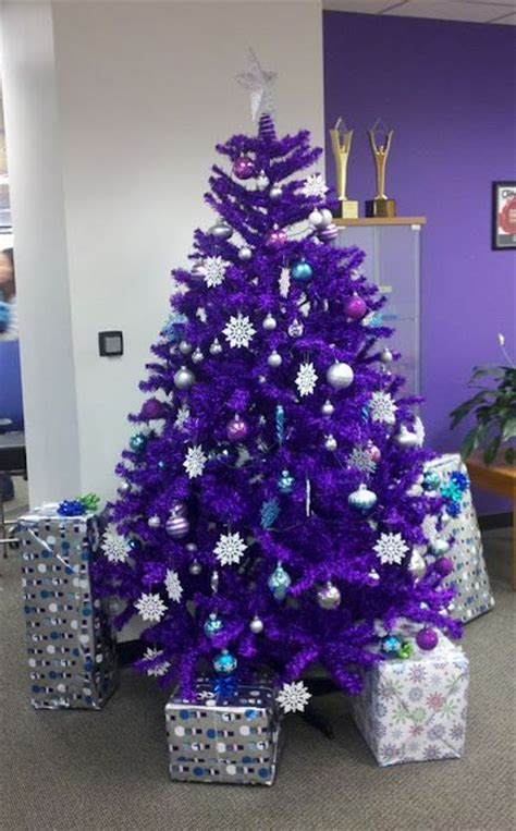 purple christmas tree purple shades pinterest