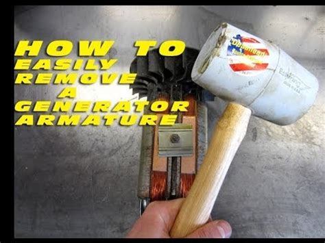 How To Easily Remove A Generator Armature  Youtube