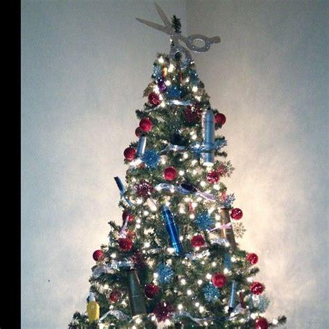 hair dresser christmas tree diy christmas salon salon