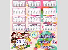 Calendarios 2016 con dibujos para niños para descargar e
