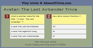 Avatar The Last Airbender Trivia
