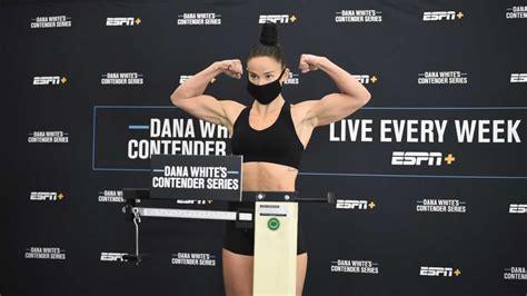 Australian Chelsea Hackett on weight for Dana White's ...