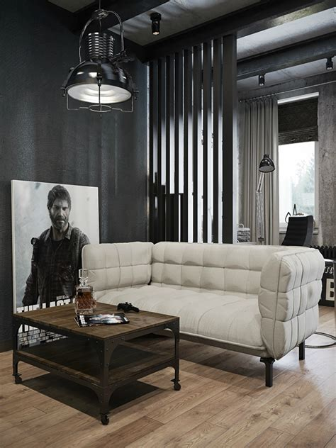 Small Modern Industrial Apartment by Small Modern Industrial Apartment Decoholic