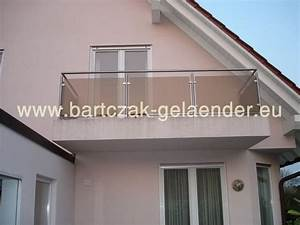 balkongelander edelstahl glas bausatz bartczak With französischer balkon mit steine garten günstig