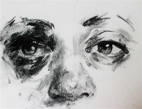 charcoal sketch   friends eye   seizure