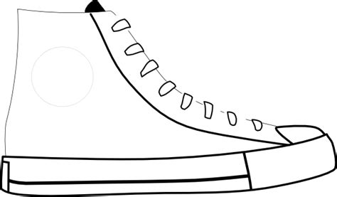 shoe clipart black and white white shoe clip at clker vector clip