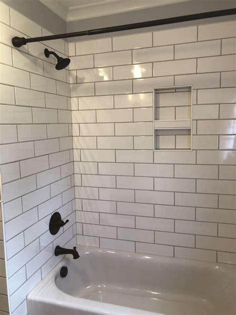 ideas  bathtub surrounds white subway tile