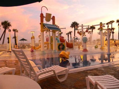View of the pool from the hotube/aqualand area - Picture ...
