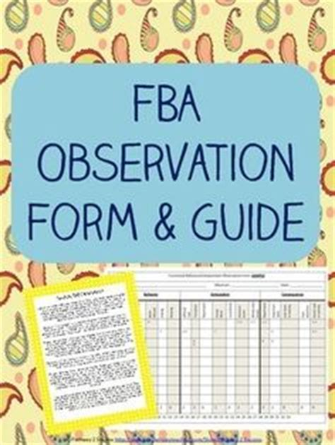 functional behavior assessment forms examples invitation