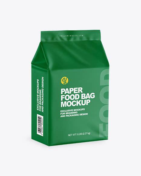 Apple imac, macbook, iphone, ipad, billboards & signs, branding, print, fashion, apparel & more other mockups. Matte Food Bag Mockup - Half Side View in Bag & Sack ...