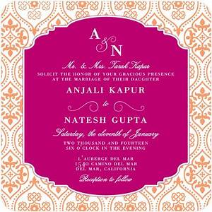 Wedding invitation wording etiquette indian wedding for Online indian e wedding invitations